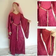 Medieval Crushed Velvet Look Dress